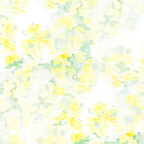 Yellow Abstract Flowering Tree