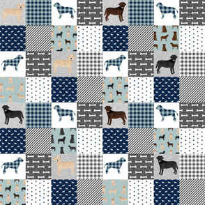 Labradors pet quilt b cheater wholecloth dog breed fabric