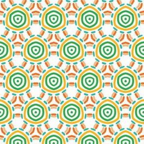 Abstract organic cut dotty circles.