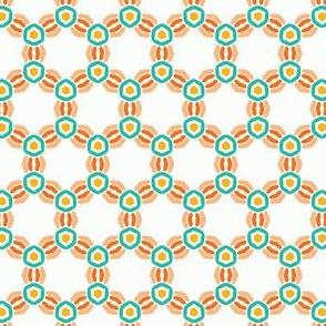 Abstract interlocking knot circles.