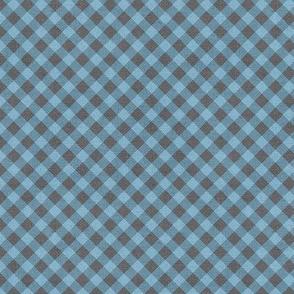Sleepy Series Blue Gingham Mid-tone Ditsy