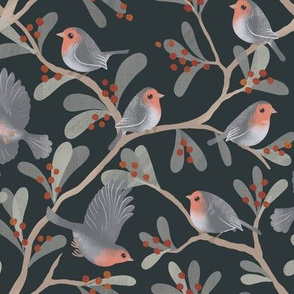 winterberry birds
