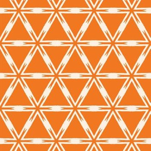 Geometric interlocking lattice triangle pattern.