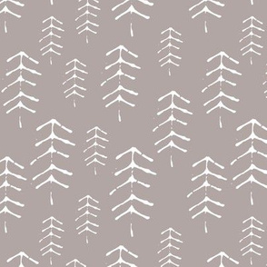 Winter forest on blush pink