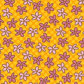 Kitty cat flowers -yellow