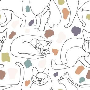 Cats Lines Minimalist (Terrazzo)