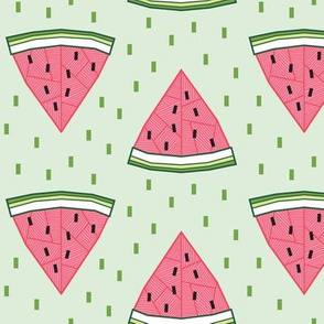 Geometric Watermelon (Mint)