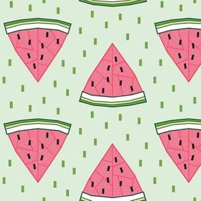 Geometric Watermelon (Mint)
