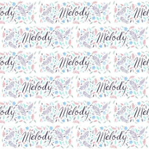 Large Handlettering Name Melody