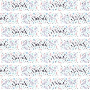 Small Handlettering Name Melody