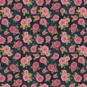 Roses on indigo (smaller)