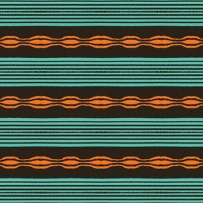 Colorful hand drawn horizontal stripes pattern.