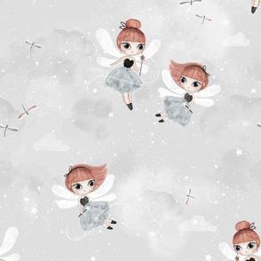 Dance with fairies - gray - BIG