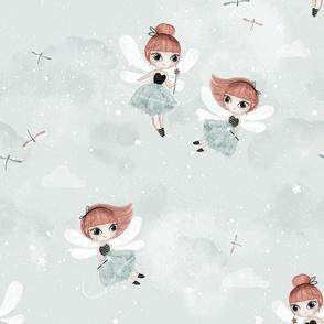 Dance with fairies - mint - BIG
