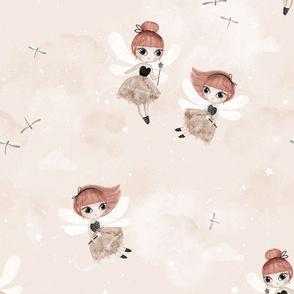 Dance with fairies - peach - BIG
