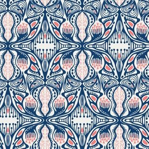 Ornate floral damask seamless pattern.