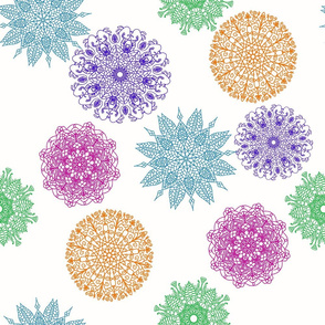 Mandala, colorful M001