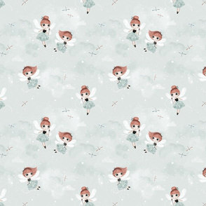 Dance with fairies - mint - SMALL