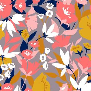 Blushing Mustard Floral