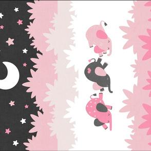 """Sleepy Elephants Blankets 18""""x27"""" Pink"""