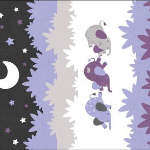 """Sleepy Elephants Blankets 18""""x27"""" Lavender"""