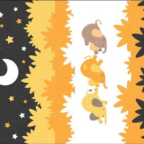 """Sleepy Elephants Blankets 18""""x27"""" Yellow"""