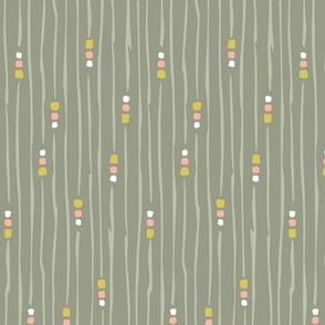 Neutral Squiggles Squares Gray