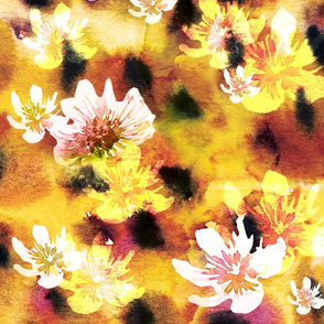 Passion Fruit Watercolor Pattern by MahsaWatercolor