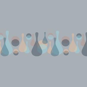 Neutral retreat - Simple mod dots and drops on medium grey