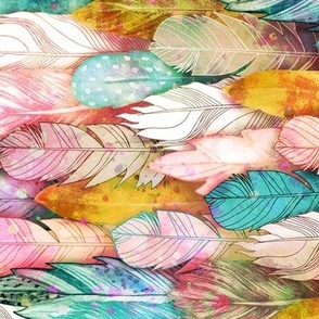 Flight of Feathers Painted Horizontal