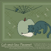 Cut-and-Sew Halloween Placemat 4