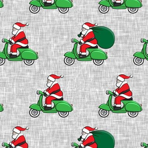 Scooter Santa - green with gifts - Christmas - LAD19