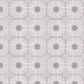 Cool Gray Flower Blocks