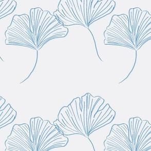 minimalist Gingko -blue