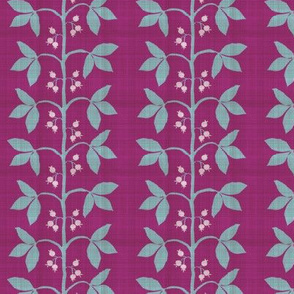 Custom Scale Berry Leaf Stripe Distressed Magenta