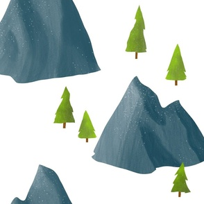 Quiet Mountains and Trees - Large Scale
