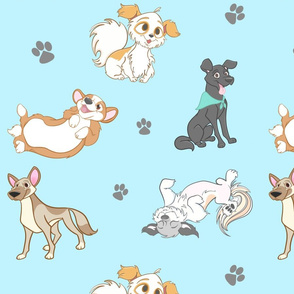 Puppy Pattern blue