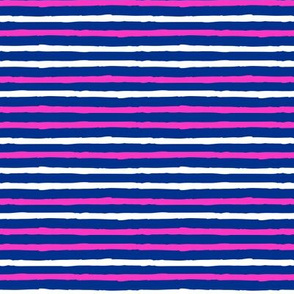 stripes - pink and blue - LAD19BS