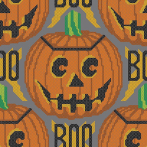Cross Stitch Jack-O'-Lanterns
