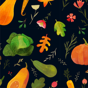 Autumn vegetables