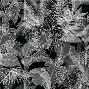 Deep Jungle Black and Grey