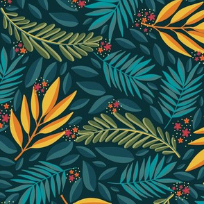 Green and Yellow floral