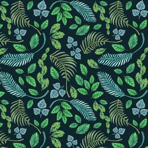 seamless_leaves_dark green_150dpi