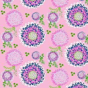 Floral Dream blooms - Pink ocean