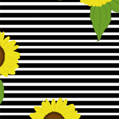 Sunflowers on SMALL stripes