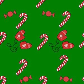 Candy Canes and Mittens