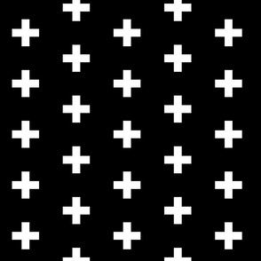 White Plus Sign | Black