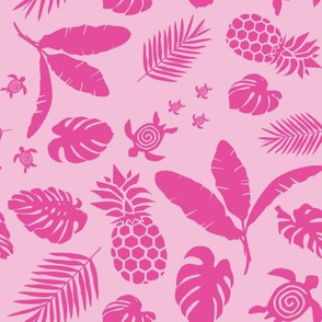 Tiki toons  background magenta 2019