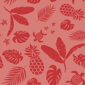 Tiki toons background red 2019