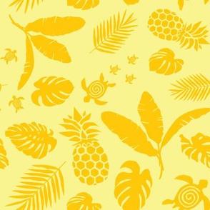 Tiki toons background yellow 2019